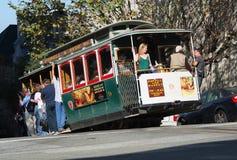 Cabina di funivia San Francisco Fotografie Stock