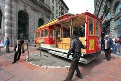 Cabina di funivia, San Francisco Fotografie Stock Libere da Diritti