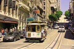 Cabina di funivia a San Francisco Fotografie Stock Libere da Diritti
