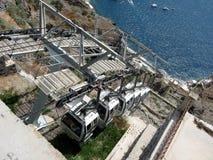 Cabina di funivia a Santorini Fotografia Stock Libera da Diritti