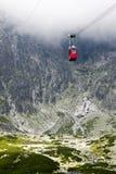 Cabina di funivia in Slovacchia, alto Tatras Fotografie Stock