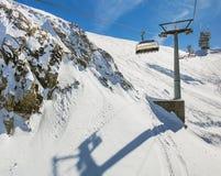 Cabina di funivia sopraelevata sul Mt Titlis in Svizzera Fotografia Stock Libera da Diritti