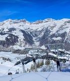 Cabina di funivia sul Mt Titlis in Svizzera Fotografia Stock Libera da Diritti