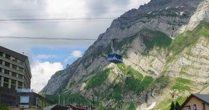 Cabina di funivia svizzera Fotografie Stock