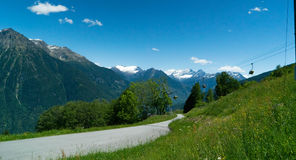 Cabina di funivia in tessin di cantone, alpi svizzere, Svizzera Immagini Stock Libere da Diritti