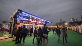 Cabina di Gioco-Time - il grande carnevale europeo 2014, Hong Kong Immagine Stock