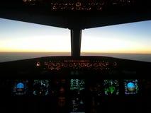 Cabina di guida A320 Fotografia Stock Libera da Diritti