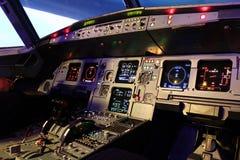 Cabina di guida A320 Fotografie Stock