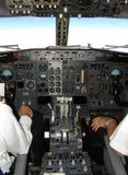 Cabina di guida del Boeing 737 Fotografia Stock