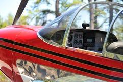 Cabina di guida dell'aeroplano fotografia stock libera da diritti