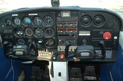 Cabina di guida dell'aeroplano Immagini Stock