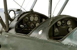 cabina di guida dell'aeroplano del veterano Immagine Stock Libera da Diritti