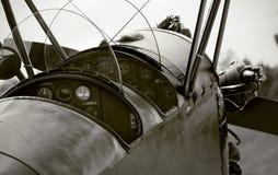 Cabina di guida dell'aeroplano del veterano Fotografia Stock Libera da Diritti
