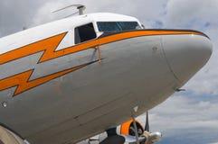 Cabina di guida dell'aeroplano dell'annata Fotografia Stock