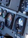Cabina di guida dell'elicottero fotografia stock