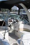Cabina di guida dell'yacht Fotografia Stock
