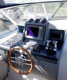 Cabina di guida della barca Immagini Stock