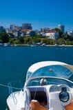 Cabina di guida della barca di velocità Immagini Stock Libere da Diritti