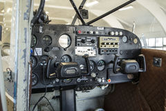 Cabina di guida di Cessna Fotografia Stock