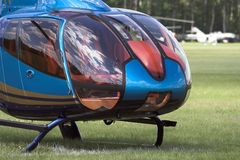 Cabina di guida moderna dell'elicottero Immagini Stock Libere da Diritti