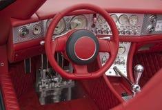 Cabina di guida rossa Fotografie Stock