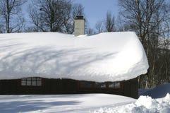 Cabina di inverno Fotografie Stock