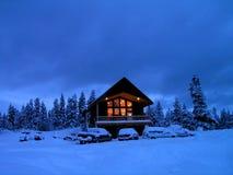 Cabina di inverno Fotografia Stock