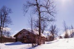 Cabina di inverno Immagine Stock