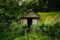 Cabina di legno Fotografia Stock
