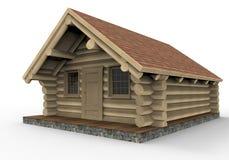Cabina di legno accogliente royalty illustrazione gratis