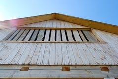 Cabina di legno nella prospettiva Immagini Stock Libere da Diritti