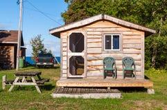 Cabina di legno rustica Immagini Stock Libere da Diritti