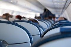 Cabina di passeggero degli aerei Immagine Stock Libera da Diritti