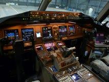 Cabina di pilotaggio del getto Fotografia Stock