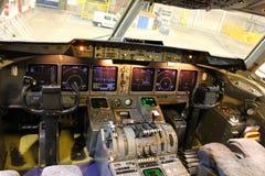Cabina di pilotaggio del getto Immagine Stock Libera da Diritti