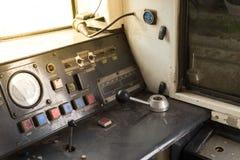 Cabina di pilotaggio del treno tailandese Immagini Stock Libere da Diritti