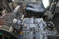 Cabina di pilotaggio dell'aereo di linea Fotografia Stock