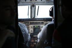 Cabina di pilotaggio dell'aeroplano Fotografia Stock Libera da Diritti