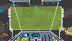 Cabina di pilotaggio 2 dell'astronave Immagine Stock Libera da Diritti