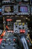 Cabina di pilotaggio dell'elicottero Fotografia Stock