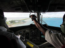 Cabina di pilotaggio dell'idrovolante Fotografia Stock