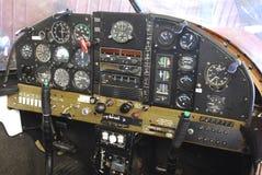 Cabina di pilotaggio dettagliata dell'aeroplano Fotografia Stock Libera da Diritti