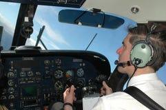 Cabina di pilotaggio di aerei Fotografia Stock