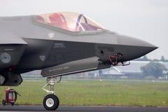 Cabina di pilotaggio di un aereo da caccia del bombardiere F35 Fotografie Stock