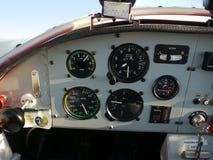 Cabina di pilotaggio interna dell'aeroplano Immagini Stock