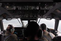 Cabina di pilotaggio piana militare Immagini Stock Libere da Diritti