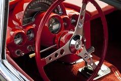Cabina di pilotaggio di un'automobile della corvetta fotografia stock