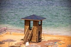 Cabina di salvataggio al mar Morto Fotografia Stock