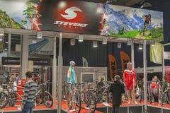 Cabina di Stevens Bikes alla fiera commerciale della bici Immagine Stock Libera da Diritti