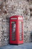 Cabina di telefono inglese Fotografia Stock